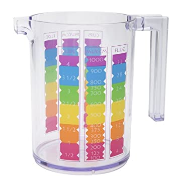 Rainbow Clear Measuring Cup (4 cup)