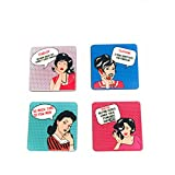 The Crazy Me Vintage Fun Coasters Set