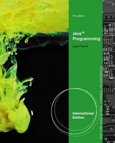 Java Programming by Joyce Farrell (2013-02-15) (Joyce Farrell Java Programming compare prices)