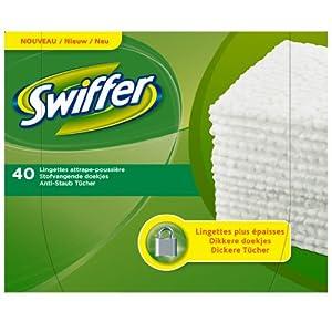 Swiffer Lingettes sèches attrape-poussière x40