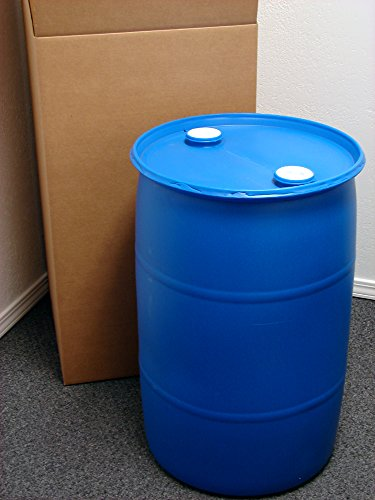 30 Gallon Drum; Emergency Water Storage Barrel, Blue - New! - Boxed! Water Container (30 Gal Plastic Storage Containers compare prices)