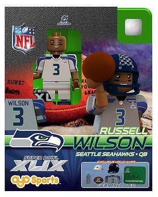 Oyo Sports NFL Super Bowl XLIX 2014 NFC Champions Seattle Seahawks QB Russell Wilson #3 Minifigure (Xlix Seahawks Champions compare prices)