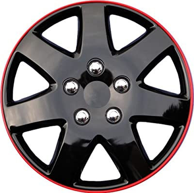 """Drive Accessories KT-962-15IB+R, Toyota Paseo, 15"""" Ice Black Replica Wheel Cover, (Set of 4)"""