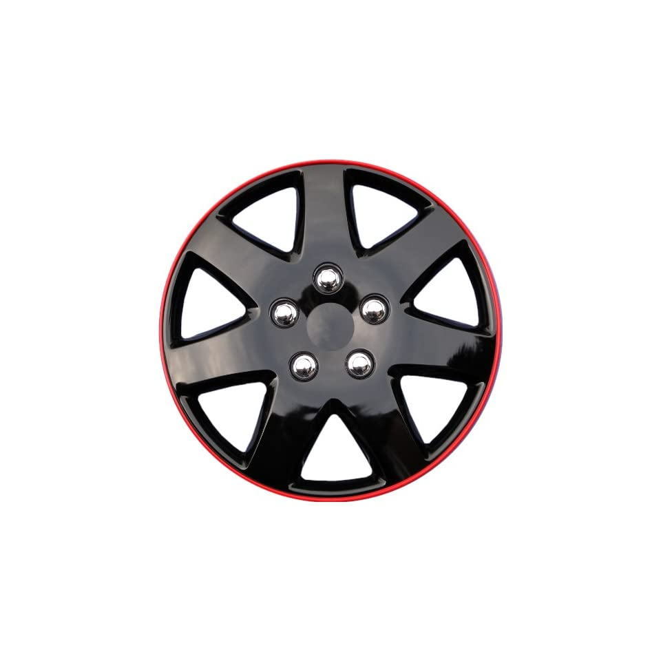Drive Accessories KT 962 15IB+R, Toyota Paseo, 15 Ice Black Replica Wheel Cover, (Set of 4)