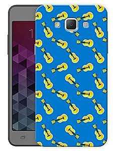 "Humor Gang Cute Guitar Blue Pattern Printed Designer Mobile Back Cover For ""Samsung Galaxy j7"" (3D, Matte, Premium Quality Snap On Case)"