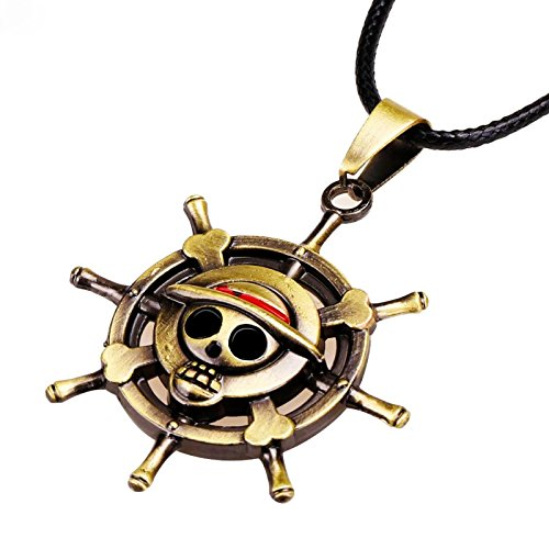 Collana Timone di One Piece con Teschio Pirata - High Quality