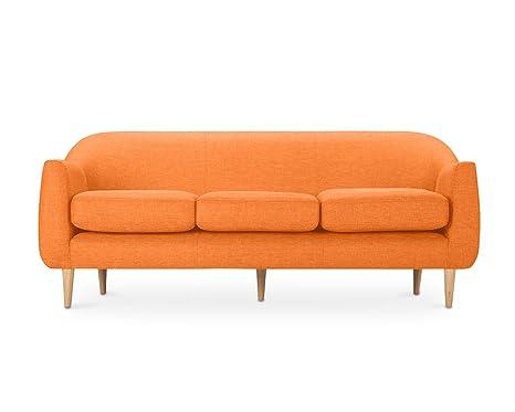 Oxydesign Sofa Naranja 3 plazas diseño escandinavo – Penny