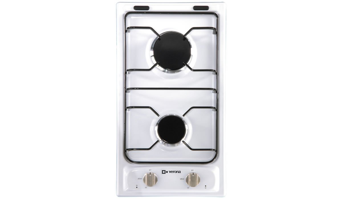 "Verona VECTG212FDW 12"" Gas 2 Burner Cooktop"