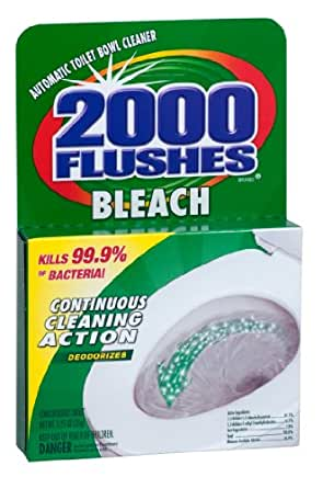 2000 Flushes 290074 Bleach Chlorine Antibacterial Automatic Toilet Bowl Cleaner, 1.25 oz