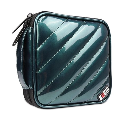 bubm-pu-smooth-leather-cover-32-disc-case-cd-dvd-wallet-storage-organizer-travel-bag-cd-bag-dark-gre