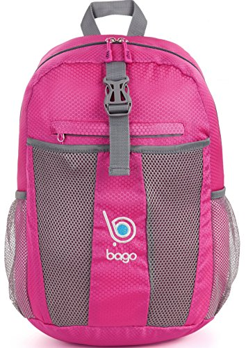 Foldable Daypack Bag - Collapsible lightweight Backpack For Women & Girls (PINK) Review