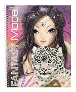 Top model album de coloriage fantasy neuf jeux et jouets - Coloriage top model visage ...