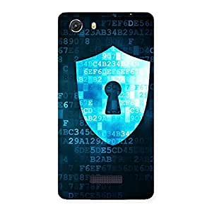 Delighted Cyber Secur Print Back Case Cover for Micromax Unite 3