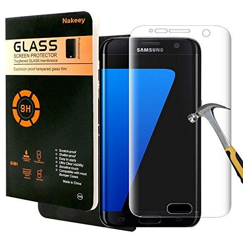 Galaxy S7 Schutzfolie,Nakeey Samsung Galaxy S7 Gehärtetem Glas [Anti-Kratzen] Schutzfolie Panzerglas Hartglas Screen Protector Schutzglas für Samsung Galaxy S7