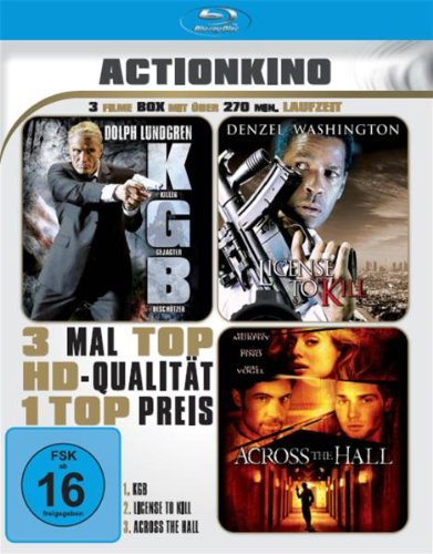 K.G.B. / License to Kill / Across the Hall (3 Filme Actionkino) [Blu-ray]
