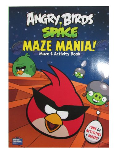 Angry Birds Space Maze Mania 96 Page Coloring And Activity Book front-88489