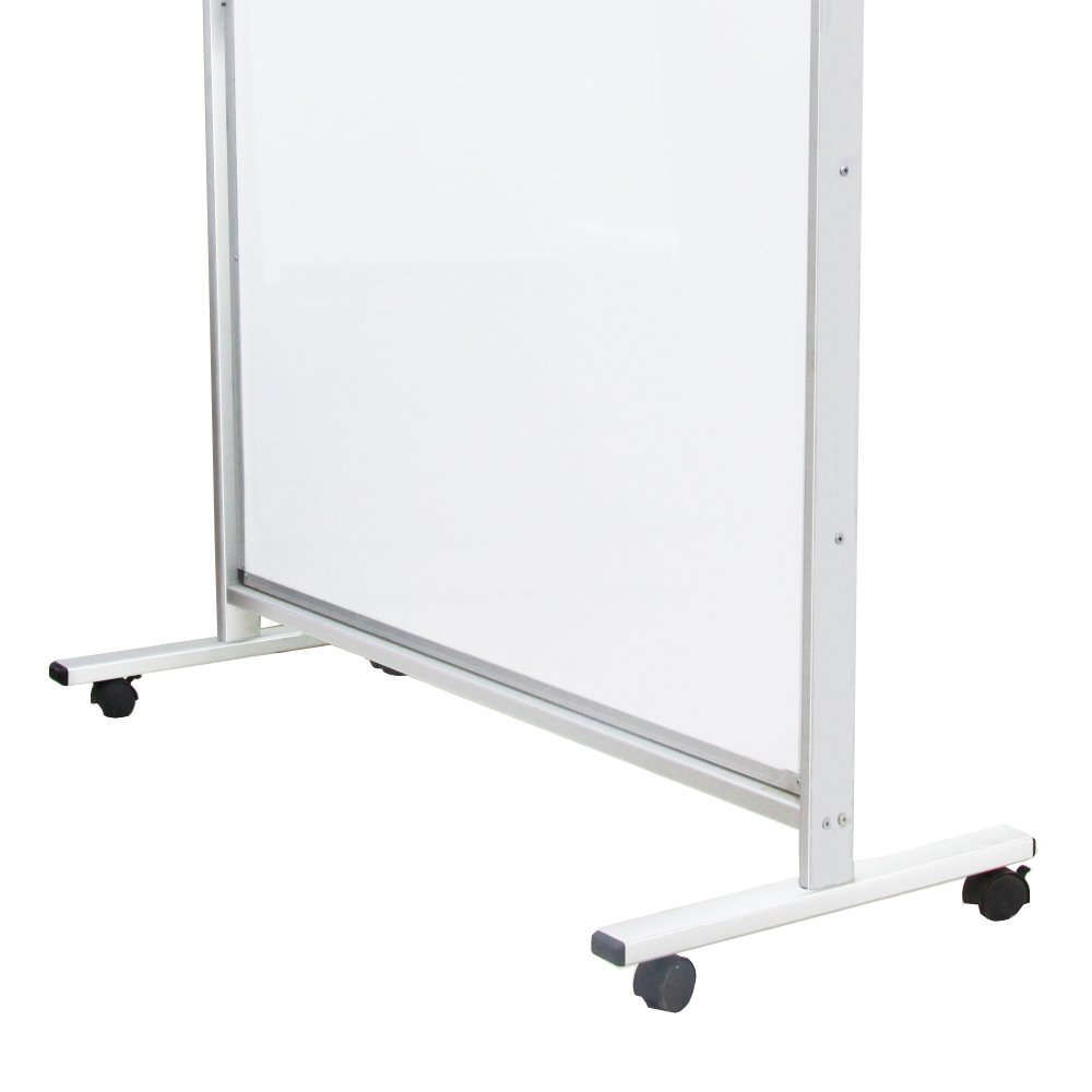 """VIZ-PRO Mobile Room Divider/Office Partition, Double-sided Magnetic Whiteboard 48""""Wx72""""H"""