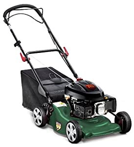 Q Garden QGPM18SP 18-inch Self Propelled Petrol Lawnmower - Green/ Black