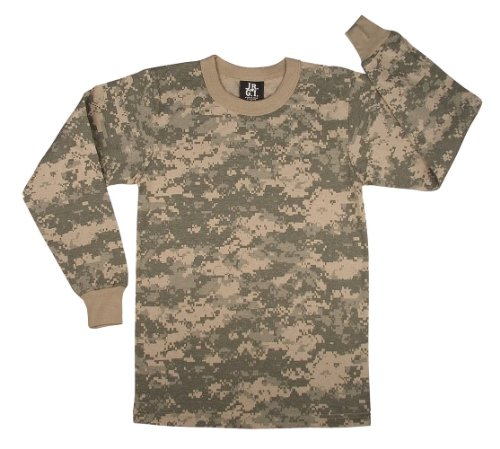 Kids Camouflage T-Shirt - Long Sleeve, ACU Digital