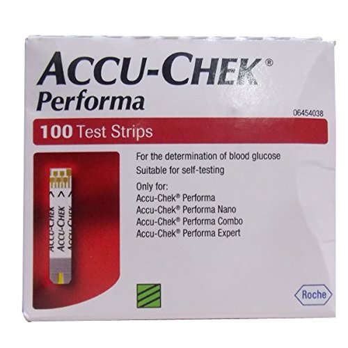 Accu Chek Performa, 100 Test Strips (Without Code Chip)