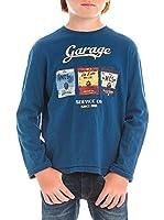 M C S Camiseta Manga Larga Jersey Slub (Azul)