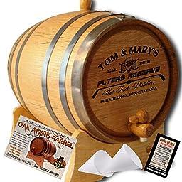 Personalized American Oak Aging Barrel - Design 068: Fan Series - Hockey (5 Liter)