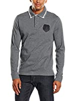 PAUL STRAGAS Polo Long Sleeve (Gris Oscuro)