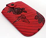 FLASH SUPERSTORE ROSE GARDEN RED POUCH/CASE/SLEEVE/HOLDER ( LARGE ) SUITABLE FOR LG GW300