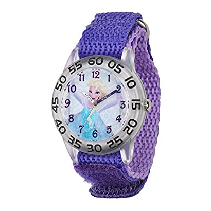 Children's Watches Disney Watch Frozen Elsa Princess Theme Quartz Water Resistant Girl Students Children Bangle Watches Strong Resistance To Heat And Hard Wearing