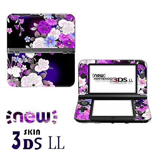 Aweek® Monster Hunter 4G Front & back Decal Paster Skin Sticker for New Nintendo 3DSXL/ New 3DS LL-Sakura 01