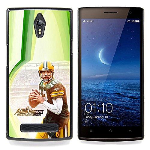 Aaron Rodger 12 NFL Custodia protettiva Progettato rigido in plastica King Case For Oppo Find 7 X9007
