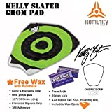Komunity Project Kelly Slater Surfboard Traction Grom Pad (Black / Green, Tropical Wax)