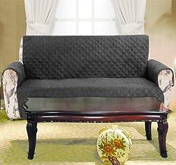 2 Piece Black Microfiber Sofa and Loveseat Protector