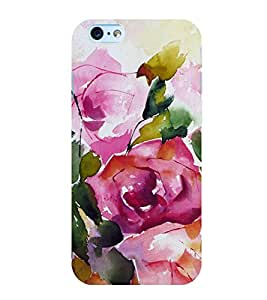 Rose Painting Water Colour 3D Hard Polycarbonate Designer Back Case Cover for Apple iPhone 6s Plus :: Apple iPhone 6s+