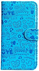 Purple Eyes ABC Artificial Leather Flip Cover Case For Samsung Galaxy Grand Prime G530H (Blue)