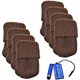 BCP 8pcs Brown Color Knitting Wool Furniture Socks/ Chair Leg Floor Protector (Brown)