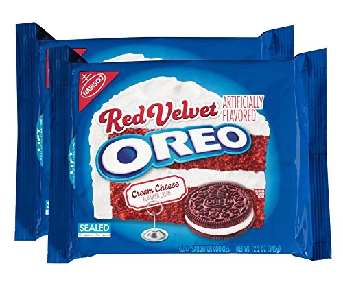 Oreo Red Velvet Sandwich Cookies (10.7-Ounce Packages, 2-Pack) (Oreos Red Velvet compare prices)