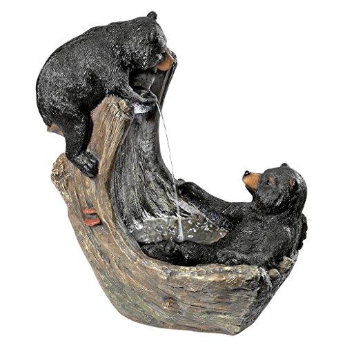 Design Toscano Bathing Black Bear Cubs Cascading Garden Fountain (Bear Fountain compare prices)