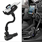 Generic 2 USB Port DC Car Cigarette Lighter Mount Stand Holder Charger Charging For Samsung Galaxy S1/S2/S3/S4/S5