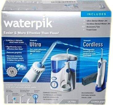 waterpik ultra dental water jet and cordless dental water jet combo 1 set. Black Bedroom Furniture Sets. Home Design Ideas
