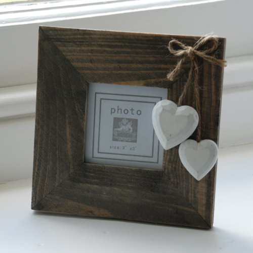 Chic & Shabby Natural Wooden Square Standing
