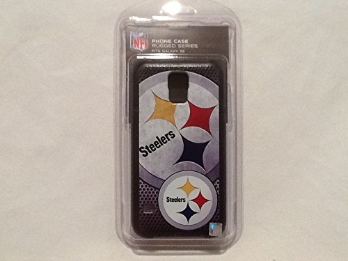 Pittsburgh Steelers Rugged Case for Samsung Galaxy S 5 Cell Phones - Black/Silver/Gold/Red/Blue by National Cellular