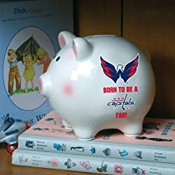 Washington Capitals Memory Company Born to Be Piggy Bank NHL Hockey Fan Shop Sports Team Merchandise