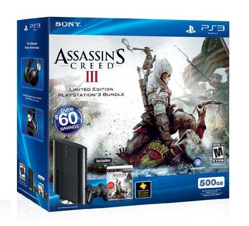 PlayStation 3 500GB Assassin's Creed III Bundle
