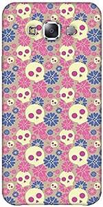 Snoogg Skull Flower Pattern Designer Protective Back Case Cover Forsamsung Ga...