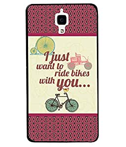 Fuson 2D Printed Quotes Designer back case cover for Xiaomi MI 4 - D4380