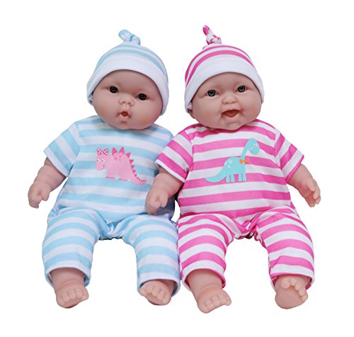 JC Toys Lots to Cuddle Babies, 13-Inch Baby Soft Doll Soft Body Twins, Designed by Berenguer (Plush Body Parts compare prices)