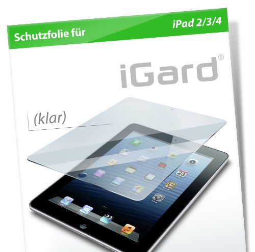 iGard® Apple iPad 4 / iPad 3 / iPad 2 Klar Folie Crystal Clear Schutzfolie