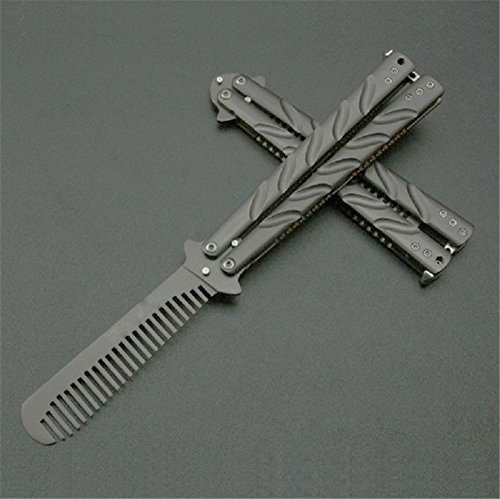 Oliasports Deluxe Metal Practice Balisong Butterfly Comb Trainer Sporting Goods Combat Sports ...