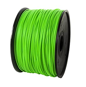 Jet ABS Filament 3.00mm Green 2.8lbs/1.3kg on Spool for MakerBot RepRap MakerGear Solidoodle Ultimaker & Up! 3D Printers